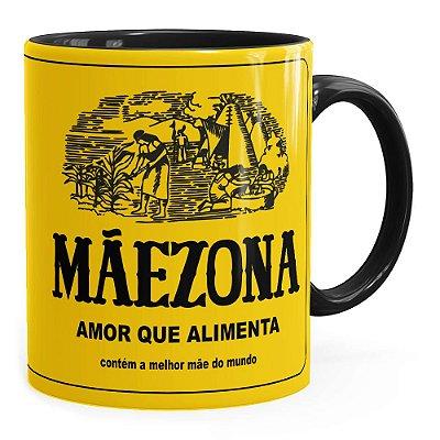 Caneca Mãezona Maizena Preta