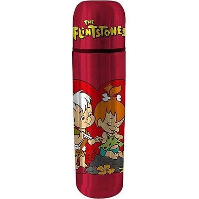 Garrafa Térmica Flintstones Bambam e Peebles Vermelho