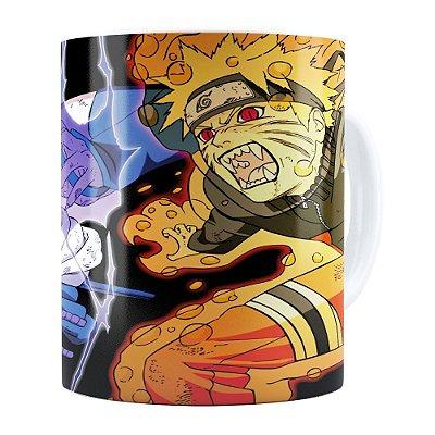 Caneca Naruto Shippuden Naruto e Sasuke 01 Branca