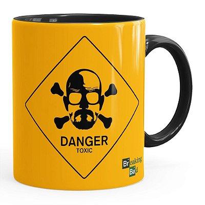 Caneca Breaking Bad Heisenberg Danger Toxic Preta