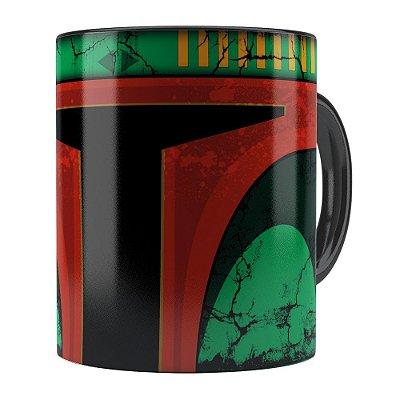 Caneca Star Wars Boba Fett v01 Cabeça Preta