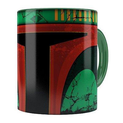Caneca Star Wars Boba Fett v01 Cabeça Verde Escuro