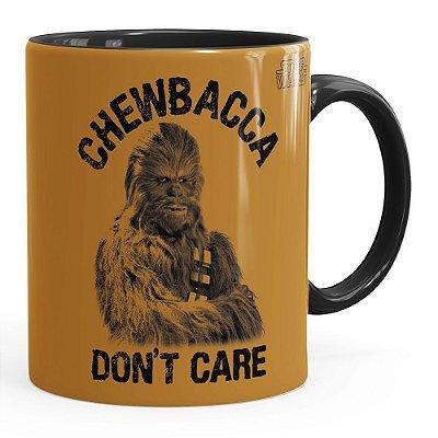 Caneca Star Wars Chewbacca Dont Care v01 Preta