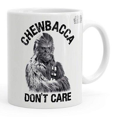 Caneca Star Wars Chewbacca Dont Care v02 Branca