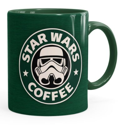 Caneca Star Wars Coffee Green Verde Escuro