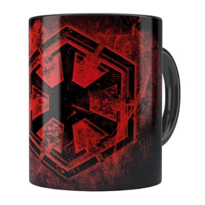 Caneca Star Wars Dark Side Of The Force Preta