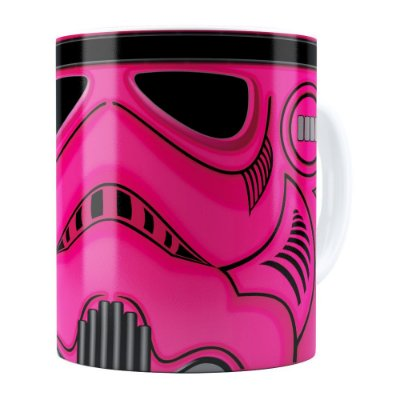 Caneca Star Wars StormTrooper Pink Branca
