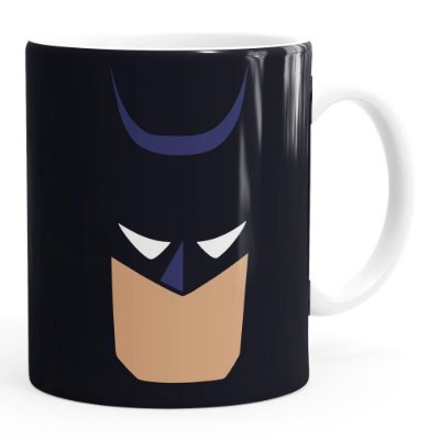 Caneca Batman Anime Minimalista Branca
