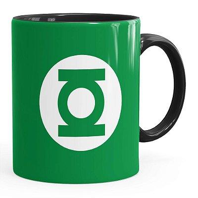 Caneca Lanterna Verde v01 Preta