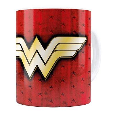 Caneca Mulher Maravilha (Wonder Woman) v04 Branca