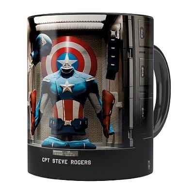 Caneca Os Vingadores (Avengers) v03 Preta