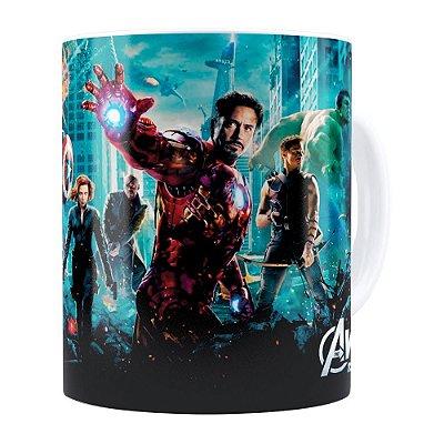 Caneca Os Vingadores (Avengers) v04 Branca