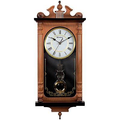 Relógio de Parede Herweg Clássico com Pêndulo 5318-210
