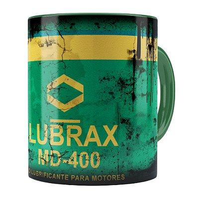Caneca Lata de Óleo Retrô Oil Lubrax v01 Verde Escuro