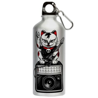 Squeeze Gato Lets Rock Kiss 500ml Aluminio