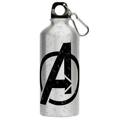 Squeeze Vingadores (Avengers) Logo v01 500ml Aluminio