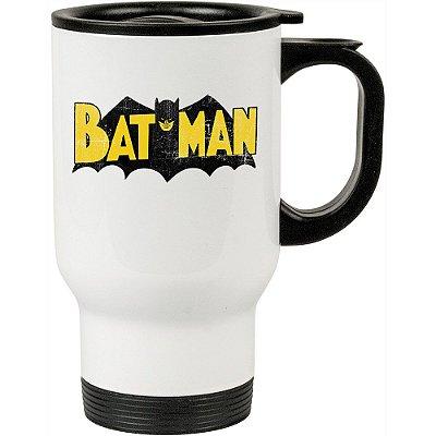 Caneca Térmica Batman Logo Vintage 500ml Branca