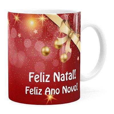 Caneca Feliz Natal Feliz Ano Novo v01 Branca