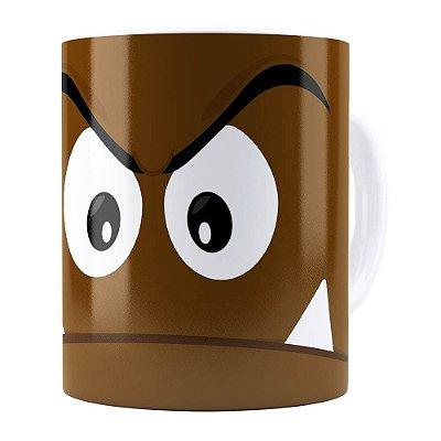 Caneca Super Mario Bros Goomba v01 Branca
