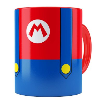 Caneca Super Mario Bros Mario Uniforme Vermelha