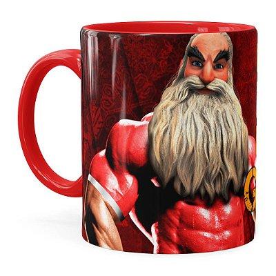 Caneca Natal Fitness Época de Ficar Grande v01 Vermelha
