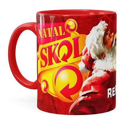 Caneca Natal Skol v01 Vermelha
