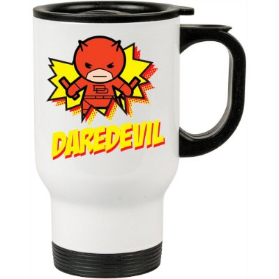 Caneca Térmica Demolidor (Daredevil) v02 500ml Branca