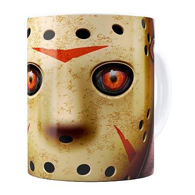 Caneca Sexta-Feira 13 Jason v01 Branca