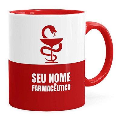 Caneca Personalizada Farmacêutico Vermelha