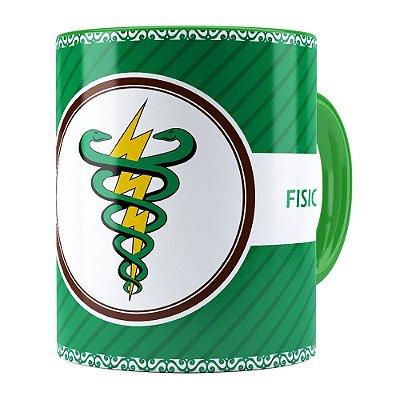 Caneca Profissões Fisioterapia v01 Verde