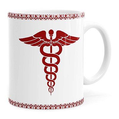 Caneca Profissões Médica v01 Branca