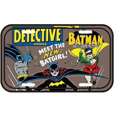 Placa Decorativa Meet The Batgirl 30x15cm