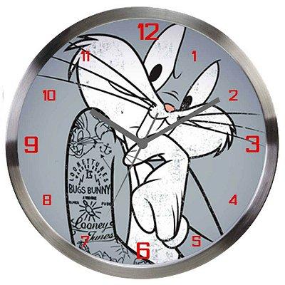 Relógio de Parede Pernalonga Concerned Alumínio 30cm