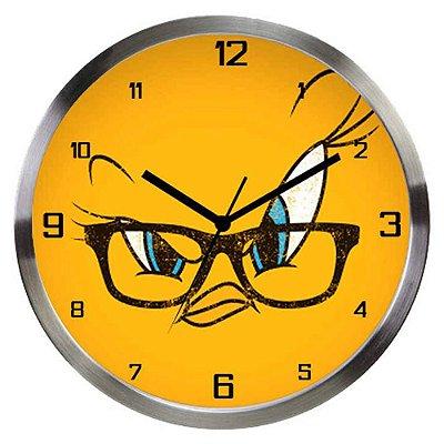Relógio de Parede Piu-Piu Big Face Alumínio 30cm