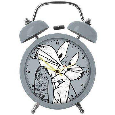 Relógio Despertador Pernalonga Concerned Metal