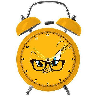 Relógio Despertador Piu-Piu Big Face em Metal