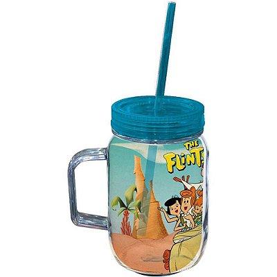 Copo Jarra Flintstones Family In Car 550ml Acrílico