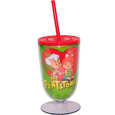 Taça Flintstones Bambam And Peebles Heart 550ml