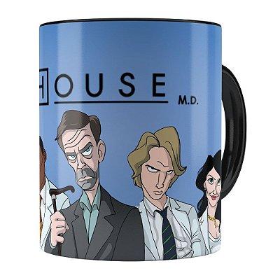 Caneca Dr.House v01 Preta