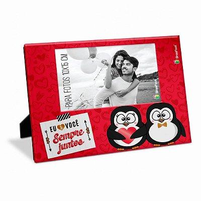 Porta Retrato Amor Sempre Juntos Pinguim 10x15