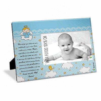 Porta Retrato Pai Nosso Azul 10x15