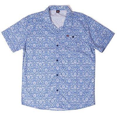 """Camisa Manga Curta Azul Com Estampa Diferenciada """"Coleção México"""""""
