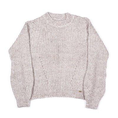 Blusa Feminina De Lã Cinza Claro