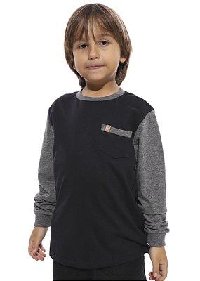 Camiseta Vida Marinha Manga Longa Infantil