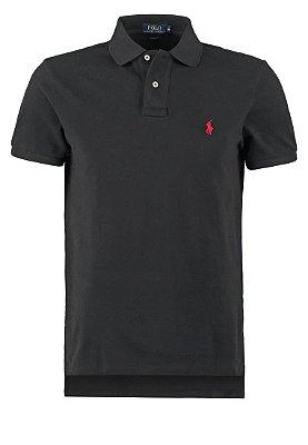 Camisa Ralph Lauren Custom Fit Preta - Hombre Outlet 017c42004b20a