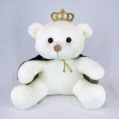 Urso De Pelúcia Principe Off White M Marinho