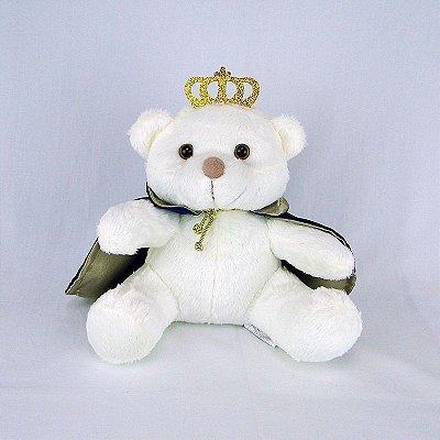 Urso De Pelúcia Principe Off White P Marinho