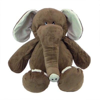 Elefante de Pelúcia Fofy 50cm Marrom