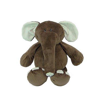 Elefante de Pelúcia Fofy 40cm Marrom
