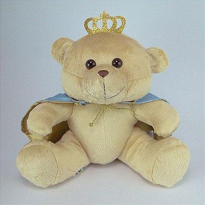 Urso De Pelúcia Principe G Azul Claro
